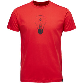 Black Diamond Idea Camiseta Manga Corta Hombre, hyper red